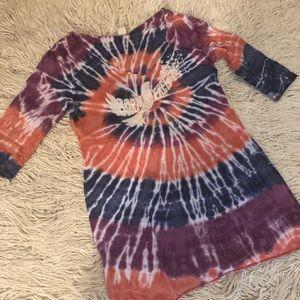 Lucky Brand Tops - LUCKY BRAND Hippie BOHO Tie Dye graphic Tee PEACE